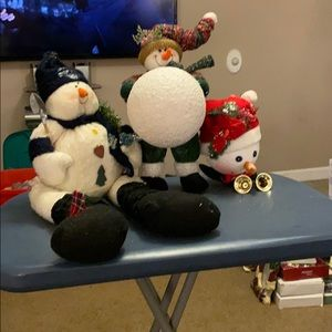Other - Lot of 3 snowman decorative